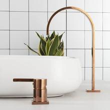 Латунный Смеситель для ванной комнаты длинный квадратный кран