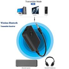 2 in 1 Bluetooth 5.0 Transmitter Receiver TV PC Car Speaker 3.5mm AUX Hifi Music Audio Adapter/Headphones Car/Home Stereo Device bluetooth 4 0 hi fi speaker music receiver wireless music link bluetooth audio adapter mobile phone tablet pc hifi speaker x400