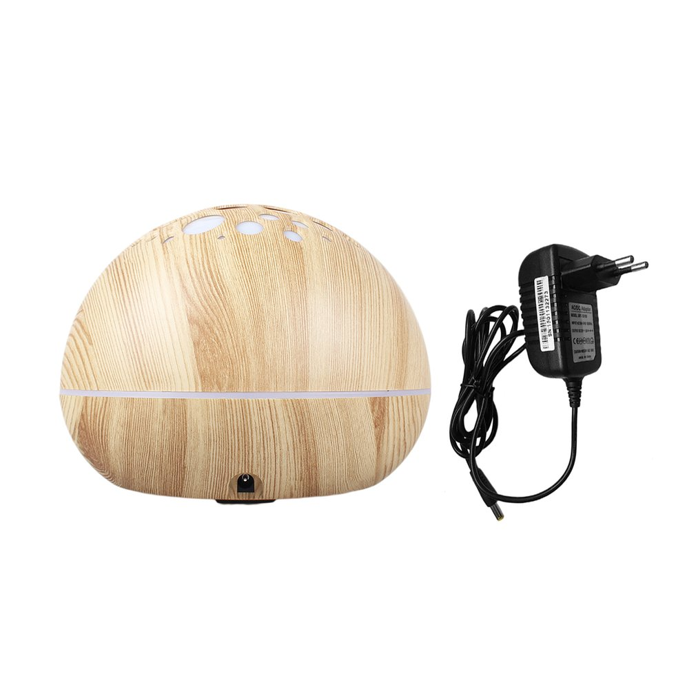 GX-21K Air Humidifier Aroma Essential Oil Diffuser With Wood Grain LED Lamp 300ml Ultrasonic Electric Aromatherapy Machine