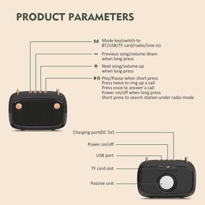 Image 4 - Retro Bluetooth Speaker Portable Wireless BT5.0 Speaker Indoor/Outdoor Loundspeaker with Powerful Bass Support TF Card/U Disk/FM
