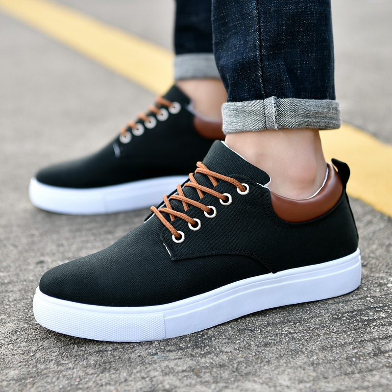 Canvas shoes boys sneakers 2020 spring new arrival comfortable sneakers men casual sneakers school black shoes