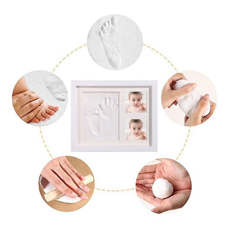 Porta-retrato 3d para bebês, molde de tinta