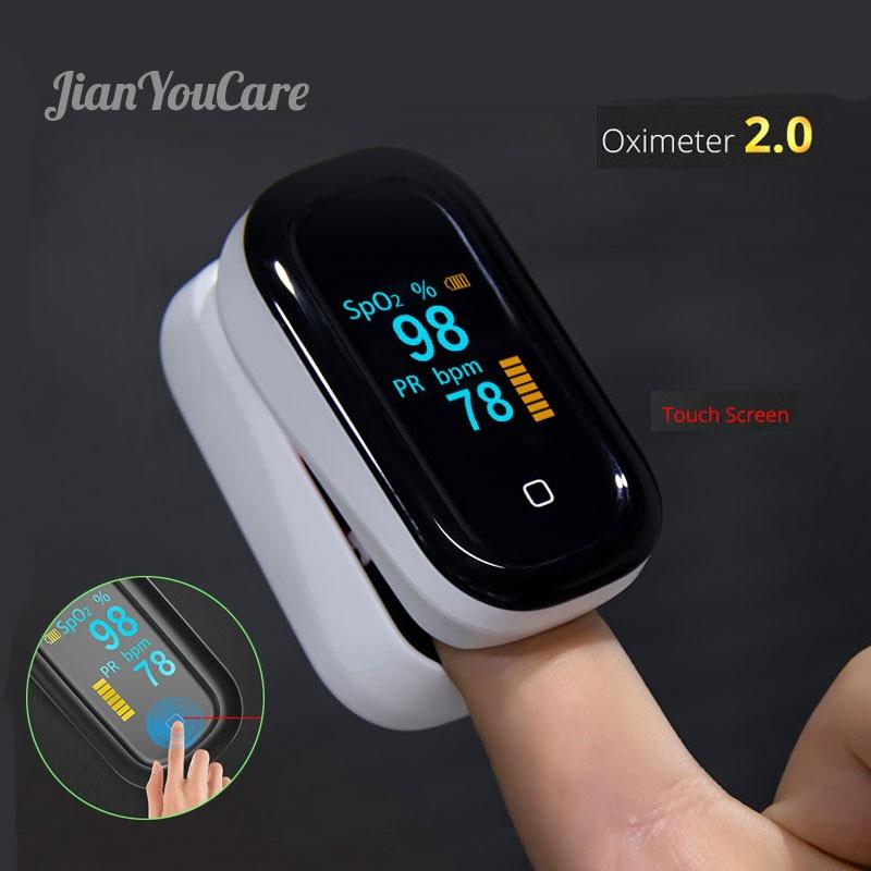 Medical Equipment Touch Screen Finger Pulse Fingertip Oximeter Oled Spo2 PR Oxygen Saturometro Monitor Oximetro De Dedo Oxymetre