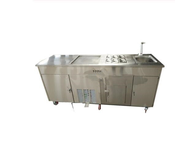 5%Discount Fried Ice Cream Machine Stainless Steel Ice Cream Machine Customized Ice Cream Roll Maker