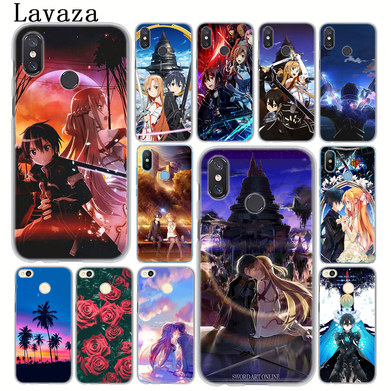 Cartoon Sword Art Online <font><b>Anime</b></font> Phone <font><b>Case</b></font> for <font><b>Xiaomi</b></font> <font><b>MI</b></font> 10 9 9T CC9 CC9E A3 Pro 8 SE A2 Lite A1 pocophone f1 6 Mi10 image