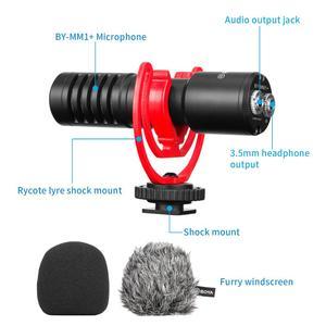 Image 4 - Boya micrófono condensador inalámbrico para teléfono inteligente, micrófono condensador supercardioide para cámaras DSLR, BY MM1 y vídeo