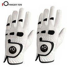 Golf-Gloves Weather-Grip Left Breathable Hand-All Premium Men with Ball-Marker Cabretta