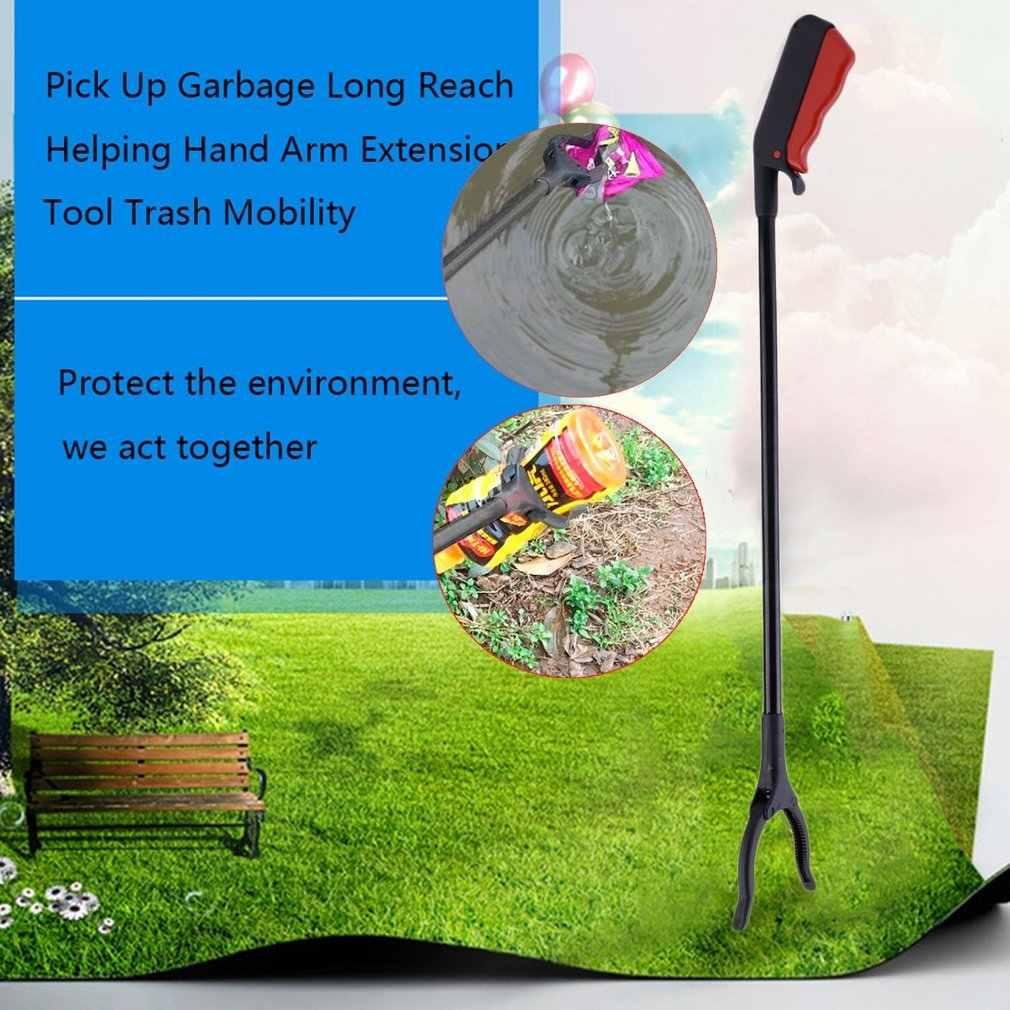 1 pçs pegar vara de lixo longo alcance ajudando a mão extensão do braço ferramenta de lixo mobilidade clipe garra garra casa ferramentas jardim