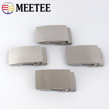 Meetee 1pc 36mm/39mm Stainless Steel Roller Toothless Men Belt Buckle Automatic Buckles Head DIY Casual Fashion Belts Accessory