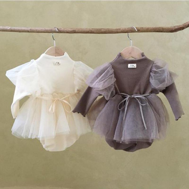 Body para bebé niña, vestido de princesa para bebé recién nacido, 1er para fiesta de cumpleaños, boda, ropa para bebé niña, vestido de bautismo de algodón
