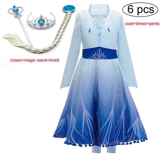 2019 Christmas Dress Kids Dresses For Girls Frozen 2 Princess Dress Unicorn Party For Kids Toddler Dress Carnival Cosplay Dress