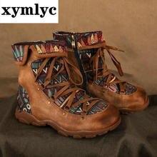 Женские туфли на каблуках; Туфли ретро богемный стиль до щиколотки