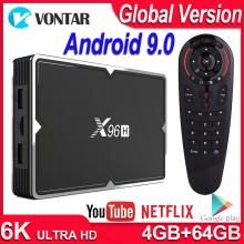 X96H TV BOX Android 9.0 Smart TV BOX 4GB RAM 64G Quad Core Dual Wifi Netflix Youtube Google Play Store 6K Android TV Set Top Box цена и фото