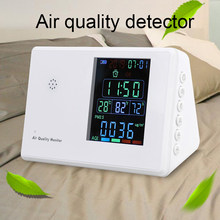 New Digital co2 meter HCHO PM2.5 monitor Hygrothermograph Alarm Clock co2 Tester Air Quality Monitor Formaldehyde Gas Analyzer