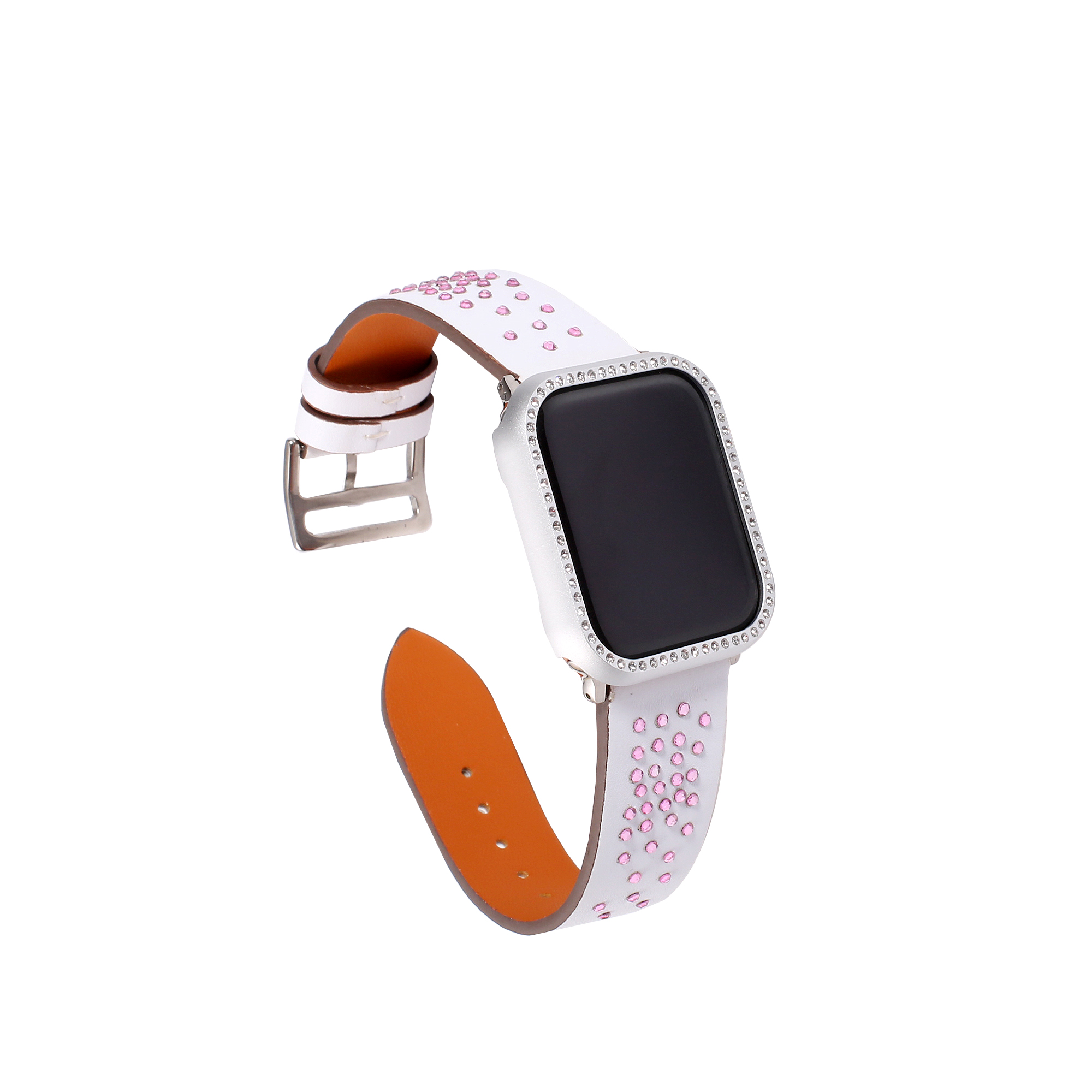 Leather sport loop strap cases for Apple watch band 40mm correa apple watch 4 44mm bracelet for iwatch band 42 38mm series 3 2 1 in Watchbands from Watches