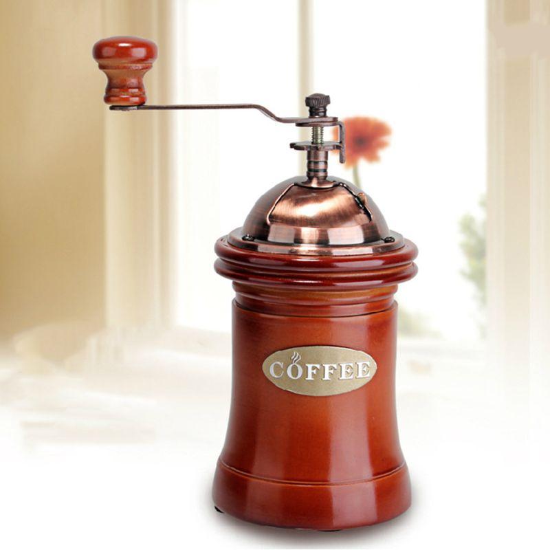 Vintage Ceramics Manual Coffee Grinder Hand Coffee Grinder Household Mini Manual Coffee Mill Beans Nuts Grinder|Manual Coffee Grinders| |  - title=
