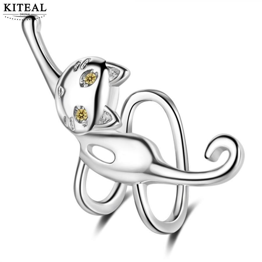 KITEAL Mode Neue Marke Design Luxurio silber überzogene clip auf ohrringe für frauen fuchs frauen earing diy