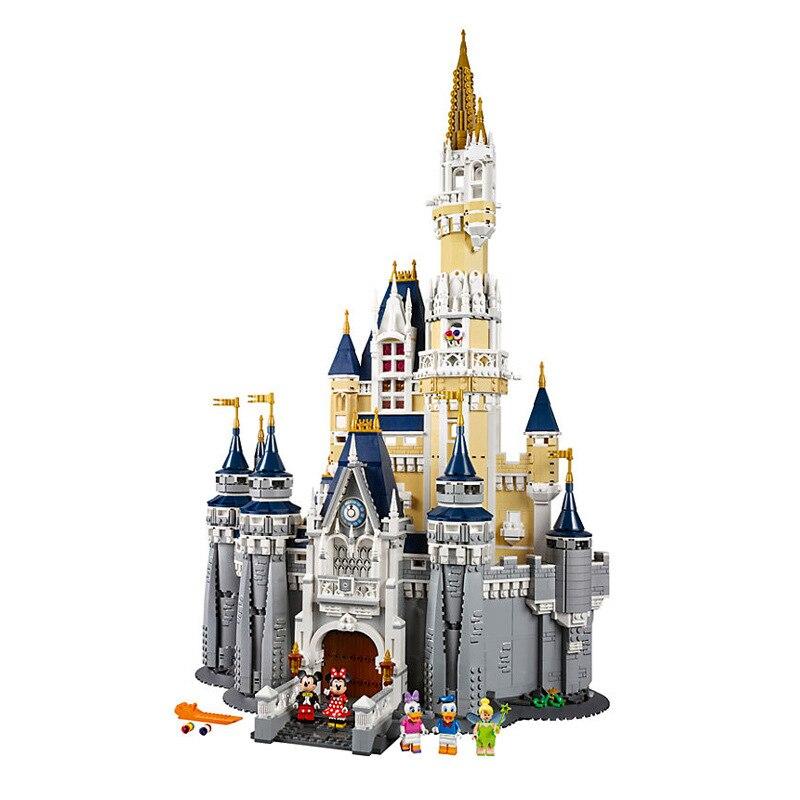 В наличии Disneys Замок принцессы с Микки-Маусом на утином пуху для девочек, строительные блоки Друзья Девушки 71040/9001 конструкторных блоков, дет...