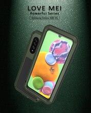 אהבת מיי חזק טלפון מקרה לסמסונג גלקסי A90 5G כבד מגן הלם עפר הוכחת מים מתכת שריון מקרה עבור A90 5G כיסוי