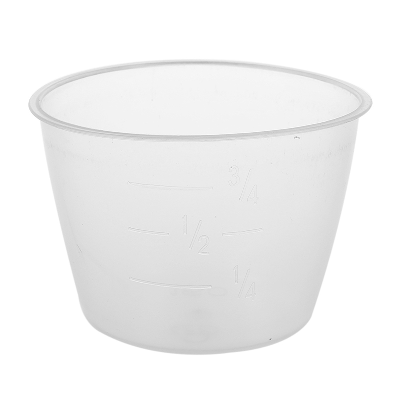 Plastic 120ml Electric Cooker Rice Measuring Cup 2pcs Clear White