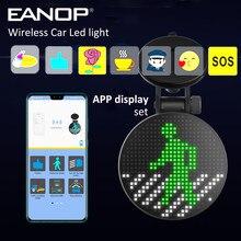 Drahtlose Auto Zeichen LED Lampe Lustige Emotion Licht 18 Programmierbare Nachrichten Display Board Unterstützung APP Bild Siri
