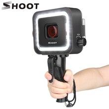 SHOOT 40M sualtı lamba LED dalış işık için GoPro Hero 7 6 5 siyah Video flaş ışıkları su geçirmez kılıf kırmızı filtre tetik