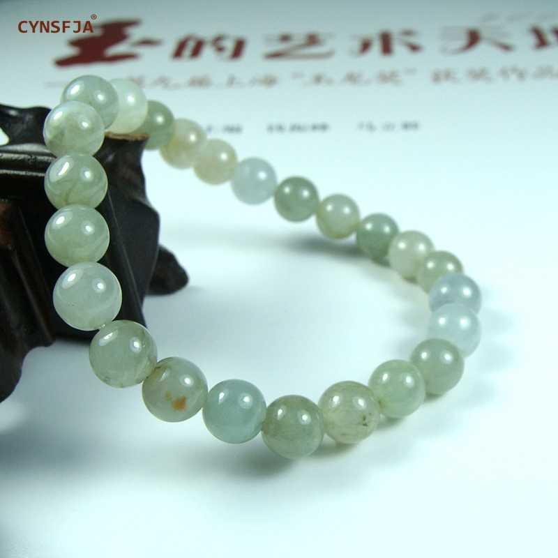 CYNSFJA จริงได้รับการรับรองธรรมชาติเกรด A พม่า Jadeite Emerald Charm พระเครื่องกำไลหยกสีเขียวคุณภาพสูงของขวัญที่ยอดเยี่ยม