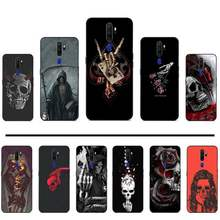 Grim Reaper Schedel Skelet Luxe Hybrid Phone Case Voor Oppo F 1S 7 9 K1 A77 F3 Reno F11 a5 A9 2020 A73S R15 Realme Pro(China)