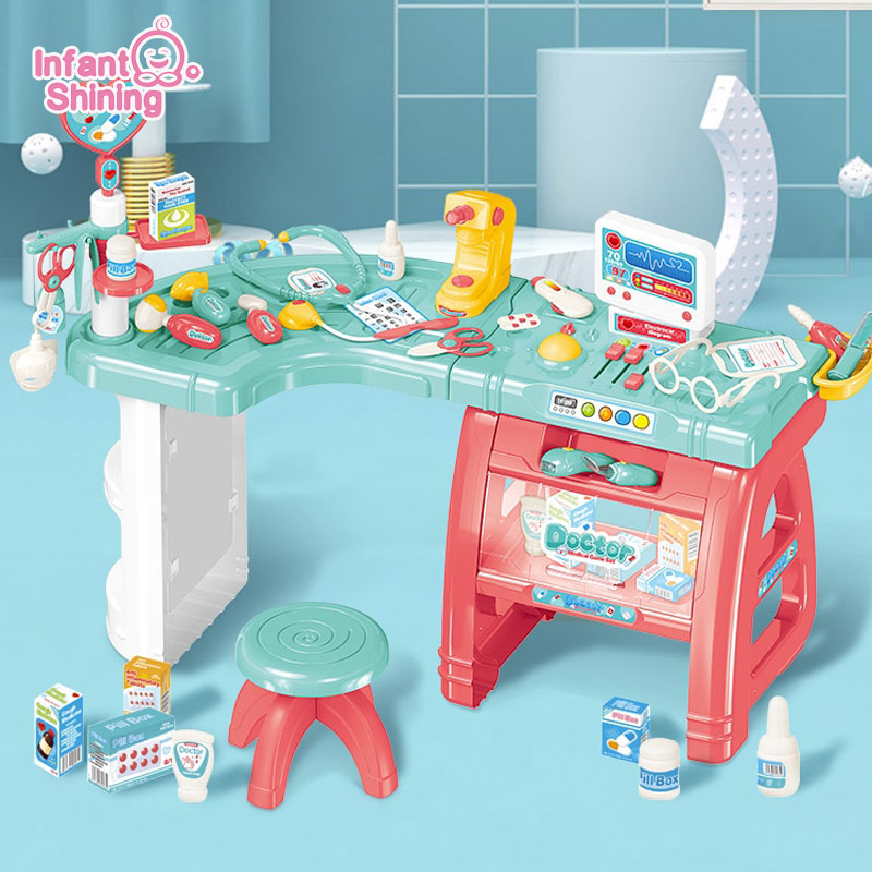 Infant Shining Doctor Play Set Toy Children's Doctor Medical Station Children's Play Toys Stethoscope Kid Toys Kids Doctor Set