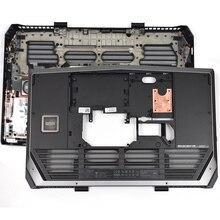 Original NEW Laptop Bottom Base Cover Case For DELL ALIENWARE M17 R3 M17X R3 R4 Bottom Base Assembly 1MT2K 01MT2K Black new original laptop parts for dell alienware 17 r4 bottom door dpn 0d81k5 free nylok screws