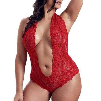 Women Lingerie Fashion Lace Bodysuit INTIMATES Plus Size