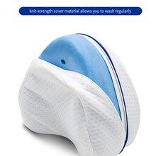 Pillow Leg-Wedge-Foot-Cushion Memory-Foam Side-Sleeper Sciatica-Relief Orthopedic-Knee