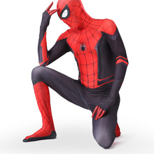 Spiderman Costume Fancy Dress Spandex Cosplay Black Adult Children High-Quality 3D Red