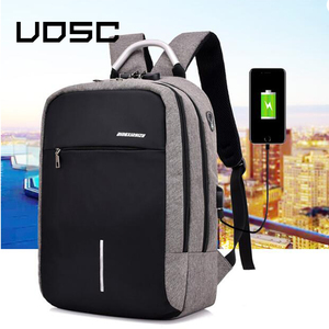 Image 1 - UOSC Men Multifunction Anti Theft Backpack  2019 New USB Charging Backpacks Waterproof Schoolbag Business Travel Bags