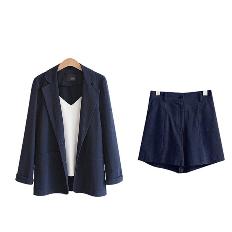 New Womens Suits Blazer With Shorts 2019 Fashion Plus Size Women's Suit +shorts Two-piece Suit Female Long Sleeve Women Clothes