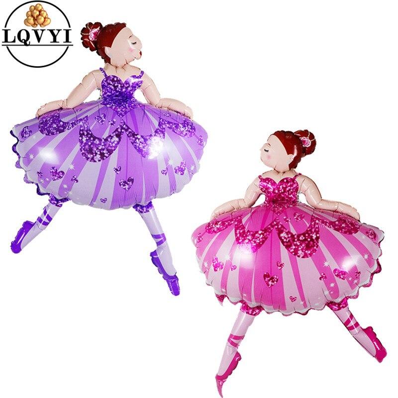 1 шт. 110*80 см блестящие балерина танцор балета для девочек гелиевые шары для девочек украшения для вечеринки в честь Дня Рождения