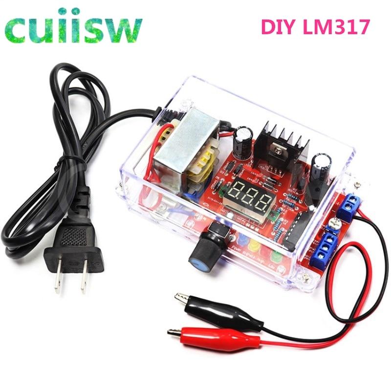 DIY Kit LM317 Adjustable Regulated Voltage 220V to 1.25V-12.5V Step-down Power Supply Module PCB Board Electronic kits(China)