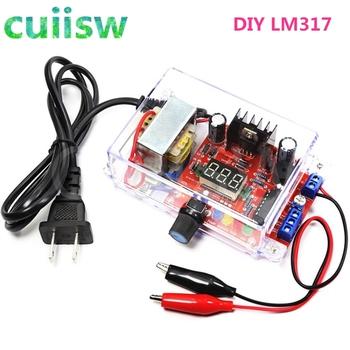 DIY Kit LM317 regulowane regulowane napięcie 220V do 1 25 V-12 5 V Step-down moduł zasilania płytka drukowana zestawy elektroniczne tanie i dobre opinie cuiisw Nowy Regulator napięcia lm317 kits adjustable voltage power Komputer