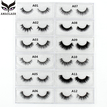 AMAOLASH Eyelashes 3D Mink Lashes Long Lasting Volume Dramatic Eyelashes Makeup Eyelash Extension Natural False Eyelashes 1