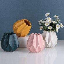 Minimalistyczne Nordic wazony estetyczne ceramiczne Glamour biuro nowoczesne wazony kompozycje kwiatowe Dekoracje Do Domu wystrój Domu DE50HP