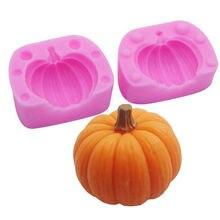 3d силиконовая форма для свечей в виде тыквы изготовления мыла