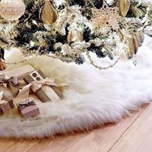 Pie de arbol navidad S/M/L белая Рождественская елка юбка фартук орнамент мягкий плюшевый коврик Рождественский Декор буйвол плед kerstboom rok