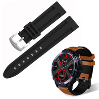 For LEMFO LEM12 Smartwatch Watchbands Soft Silicone Replacement Strap LEM 12 Sport Anti-fall Rubber Black Watch Band Accessories