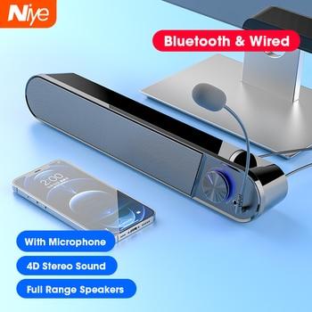 Computer Speakers 4D Stereo Surround Soundbar Bluetooth Speaker for PC Laptop Notebook Home Theater Full Range Loudspeakers 1