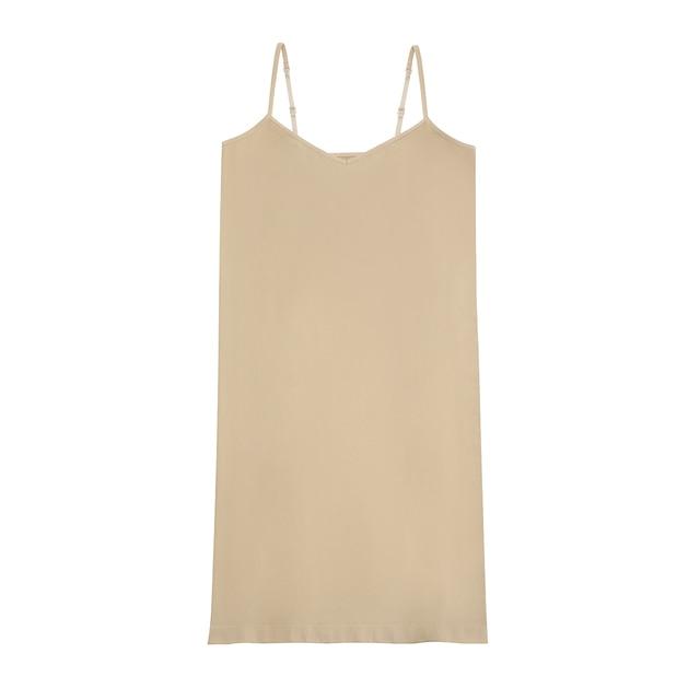 Stretchy Seamless Midi Slip Dress V Neck Sleeveless Cami Vestido Slim Bodycon Underdress 2020 Summer Women Strap Dresses 4