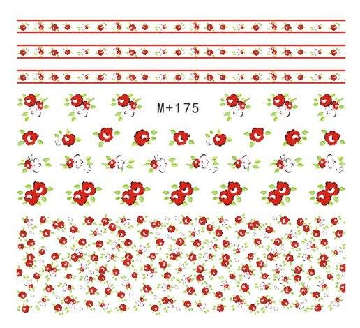 M + 174-189 New Style Japanese Korean Watermarking Manicure Stickers Flower Nail Sticker Nail Polish Flower Stickers Nail Sticke