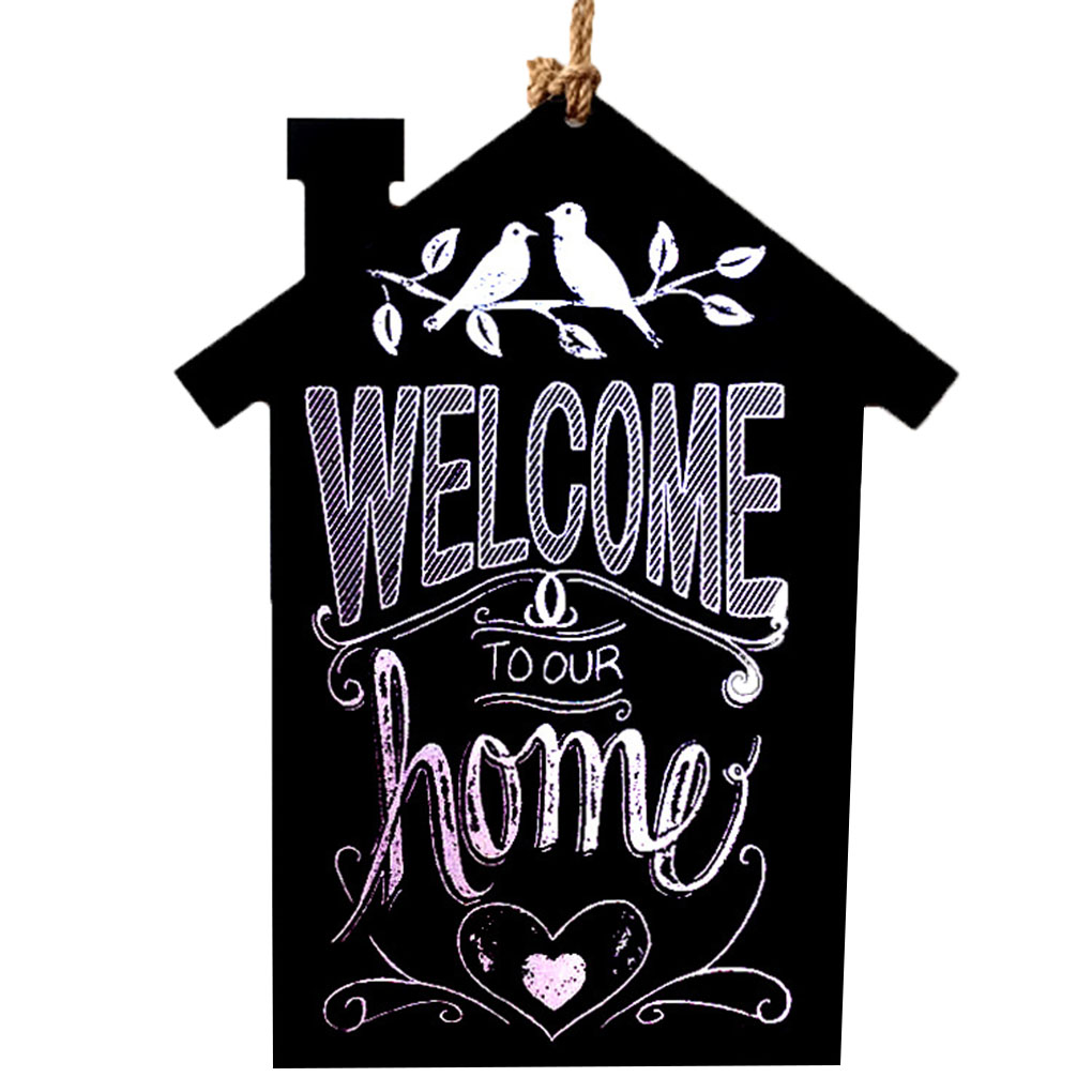 Wooden Birds House Shaped Hanging Message Boards Blackboards Home Decoration Hanging Board