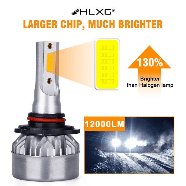 H7 LED H4 H1 9012 HIR2 H8 H3 H11 9007 H13 HB4 HB3 12000LM Car Headlight Bulbs Auto Lamp 6500K Fog Lights Fanless Nebbia 12V HLXG|Car Headlight Bulbs(LED)|   -