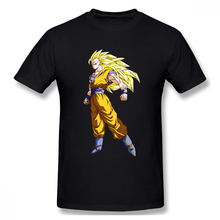 100% cotton Kakarot After Transformation Dragon Ball print casual mens o-neck t shirts fashion Mens Basic Short Sleeve T-Shirt