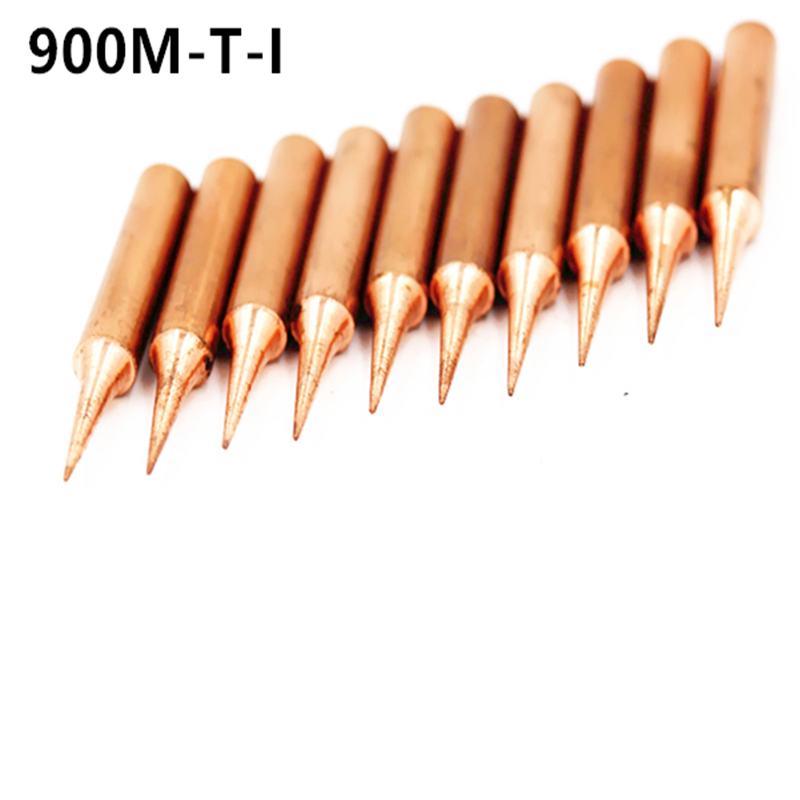 SZBFT 10X 900M-T-I Diamagnetic Copper Soldering Iron Tip Lead-free Solder Tip 933.376.907.913.951,898D,852D+ Soldering Station